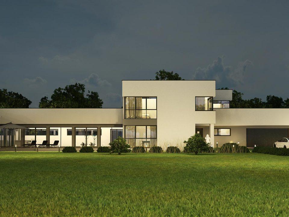 Projekt domu z basenem 1